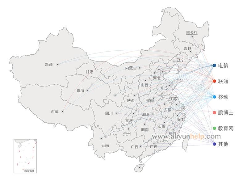 阿里云CDN全球节点覆盖分布说明图